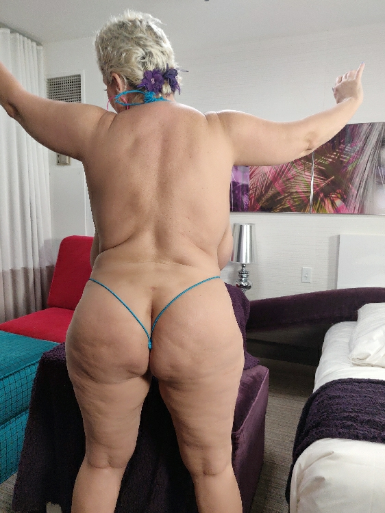 Fat white ass covered in cellulite