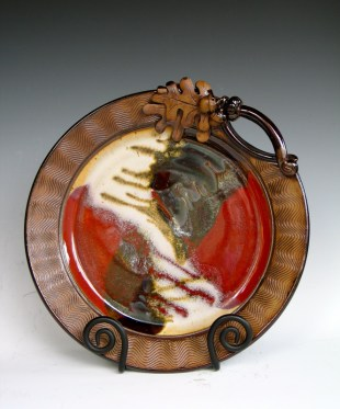 platter with leaves & acorns