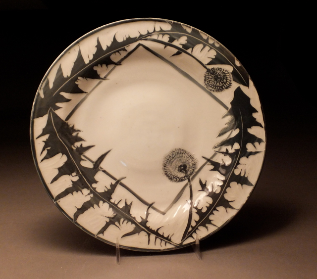 thistle plate - Glynnis Lessing