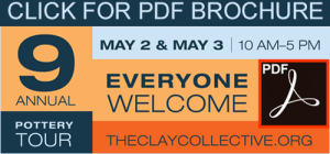 9th Annual Pottery Tour Brochure graphic