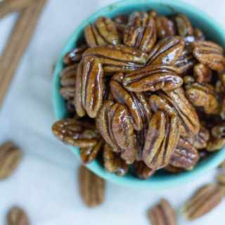 Paleo Maple Cinnamon Candied Pecans Recipe
