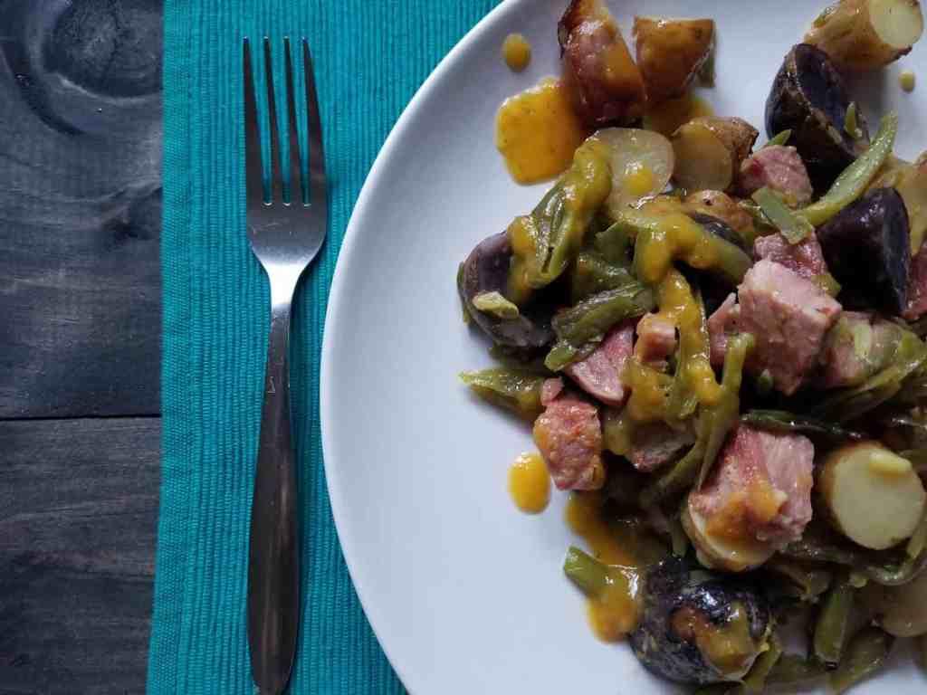 Ricante Ham Sheet Pan Dinner