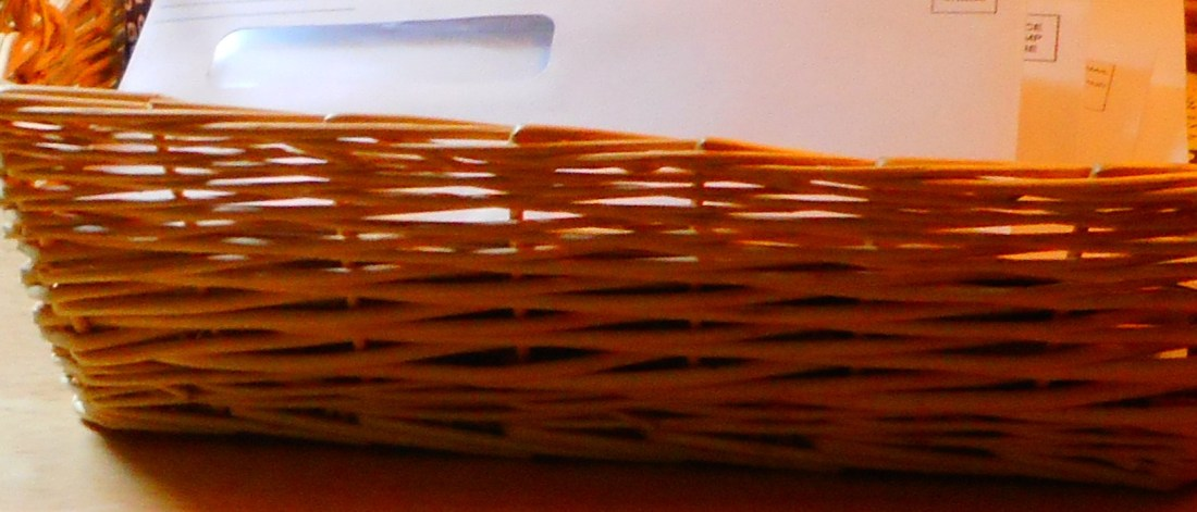 basket with papers