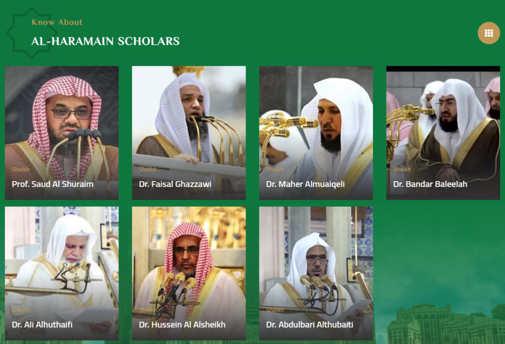 Scholars of Haramain - Official Website of Haramain (Makkah, Madina) for Friday Sermons and Lectures