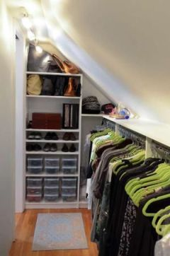 Optimal Closet Space: http://designingmainstreet.com/tag/sloped-ceiling/