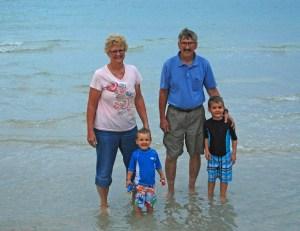 Ethan, Micah, Grandma, Grandpa