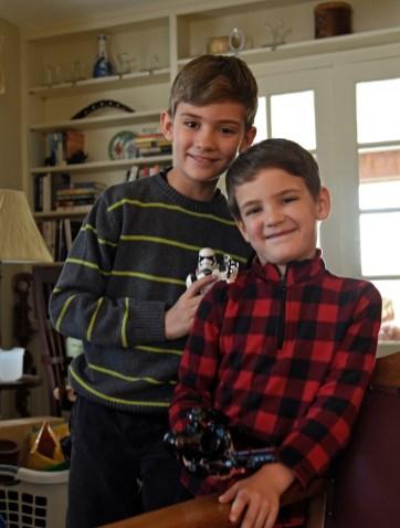 Ethan, Micah, legos