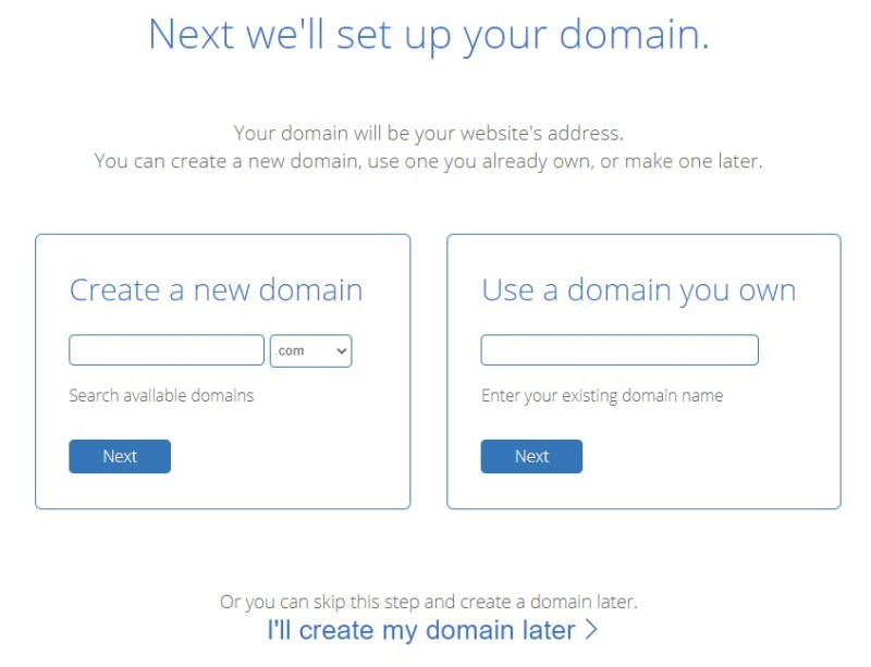 BlueHost domain name setup