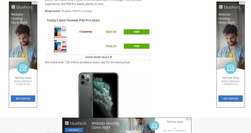 displaying ads on a blog