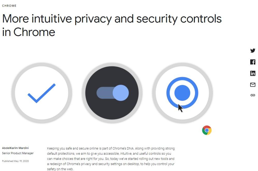 Google updates on Chrome