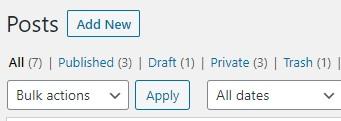 WordPress add-new-post button