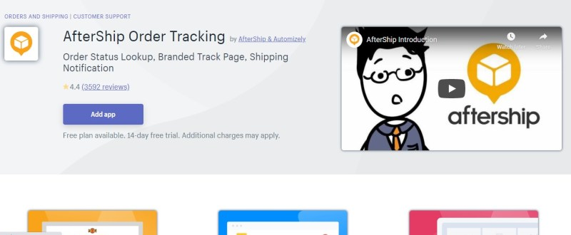 AfterShip Shopify order tracking app