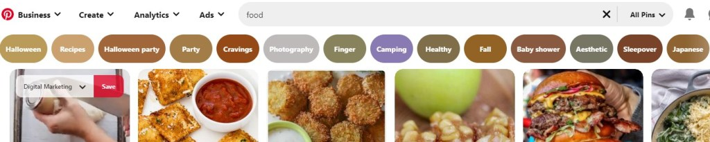 "Pinterest suggestions for ""food"""