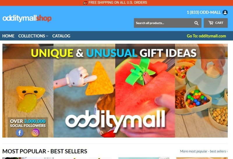 OddityMall dropshipping store homepage