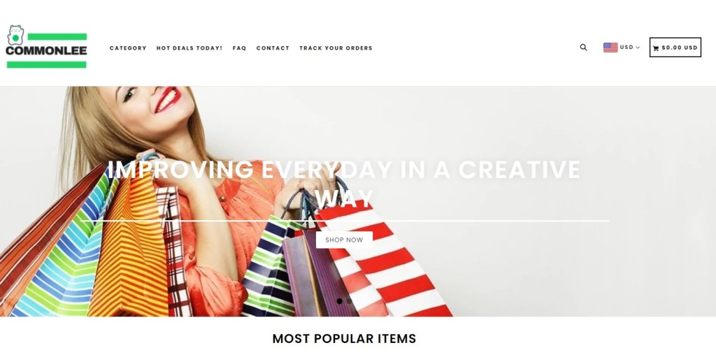 CommonLee dropshipping store homepage