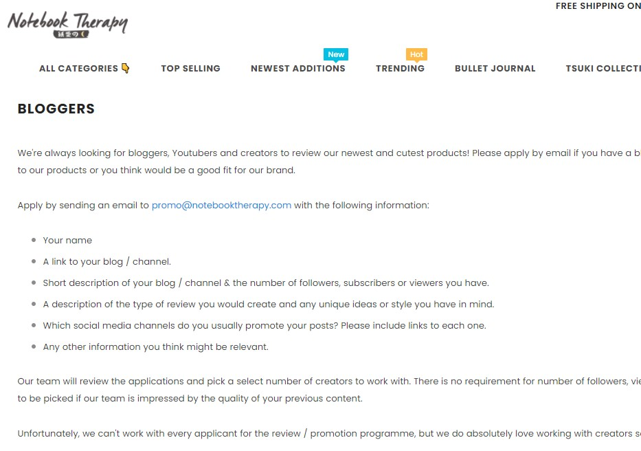 Notebooktherapy affiliate program