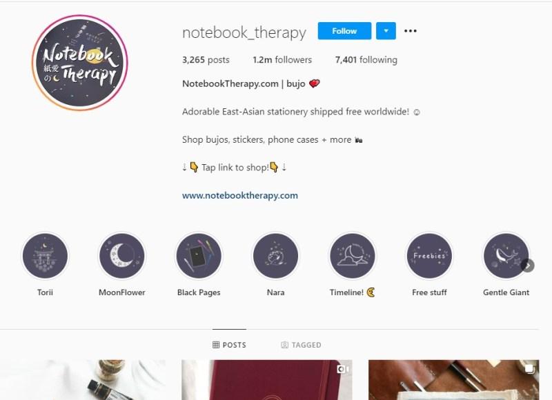 NoteBookTherapy Instagram