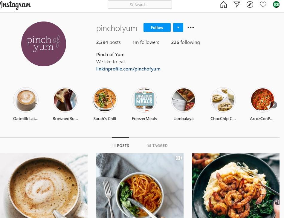 PinchOfYum Instagram