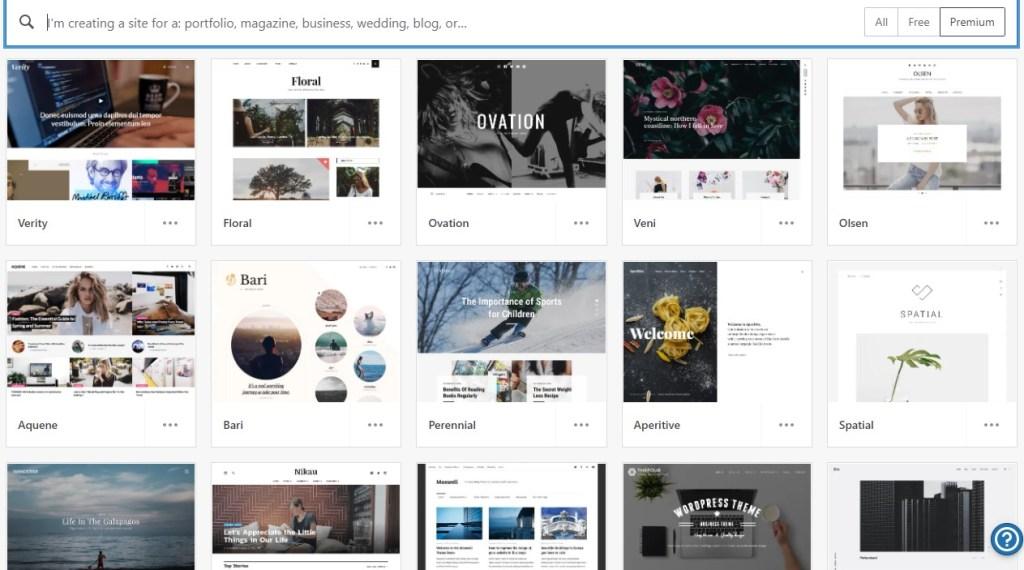 WordPress.com premium themes