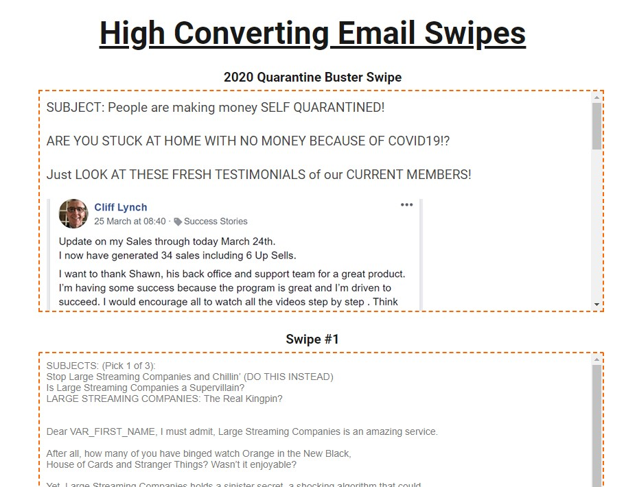 Example of affiliate marketing email templates