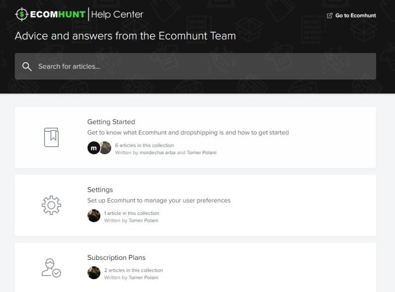 Ecomhunt Help Center