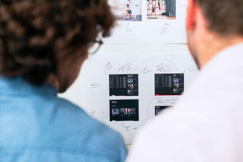 engineers designing app