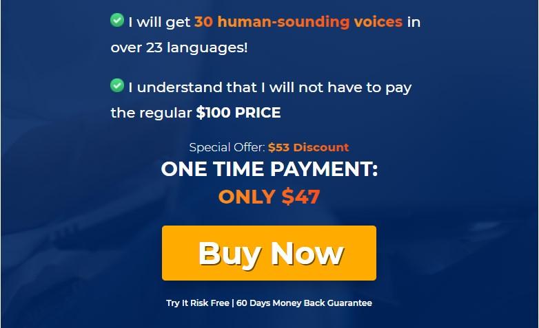 Speechelo pricing