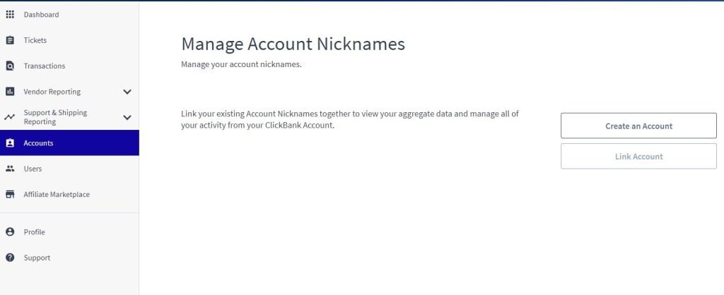 ClickBank nickname manager