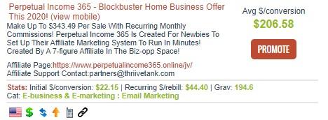 A ClickBank affiliate marketing offer