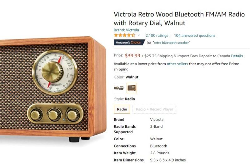 A product that evokes the nostalgia effect