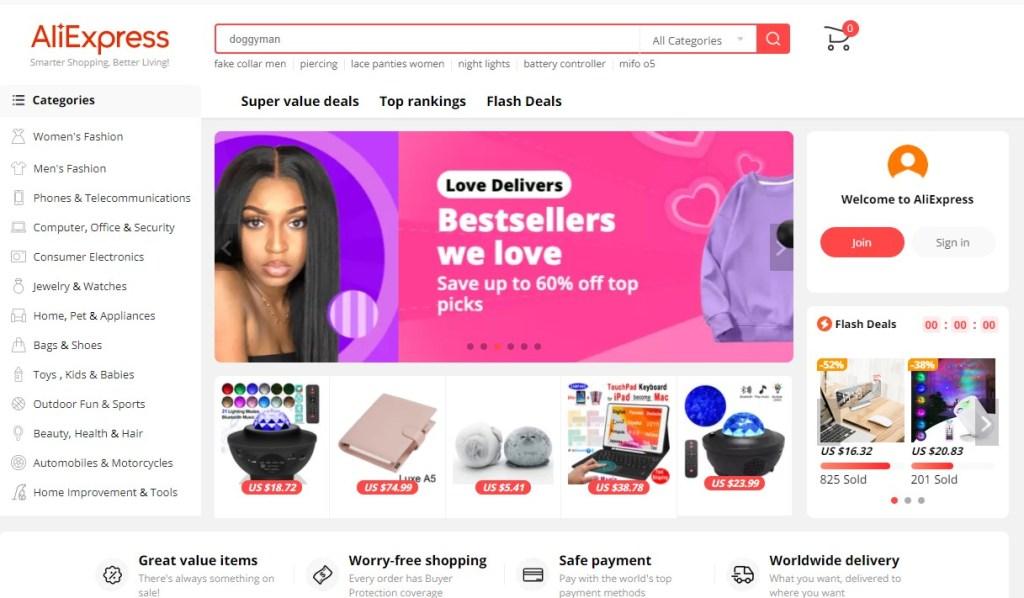 AliExpress best dropshipping website