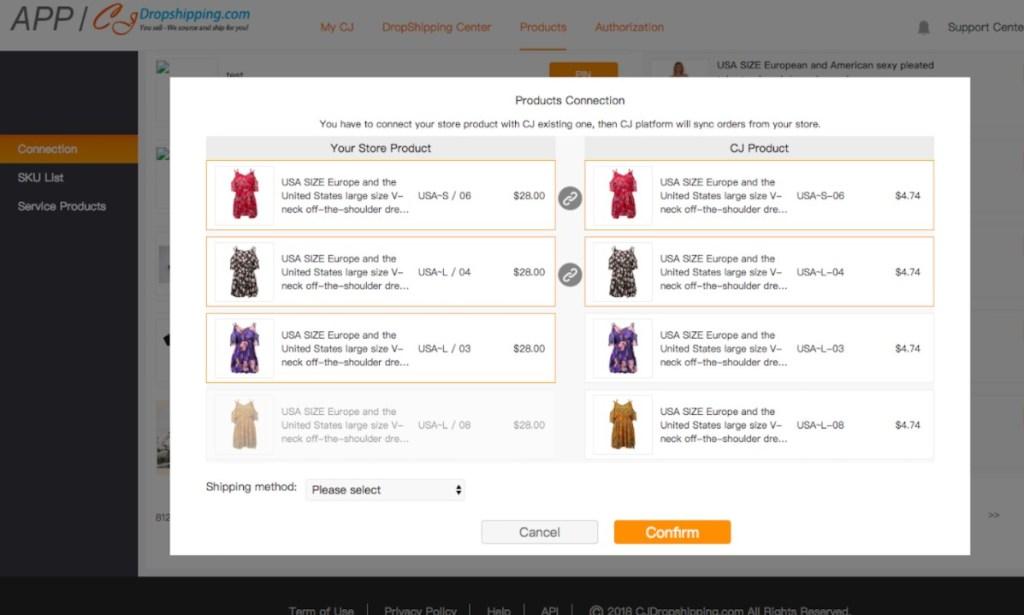 CJ Dropshipping Shopify app