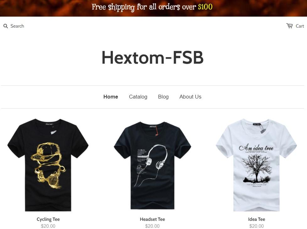 Hextom free shipping bar