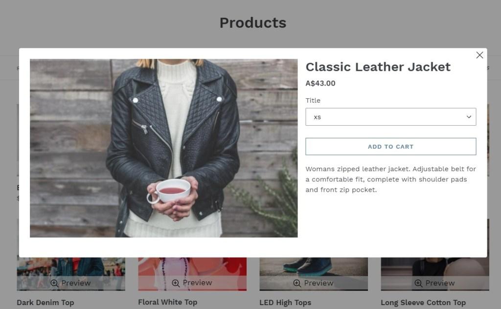 Peek Mode free Shopify app