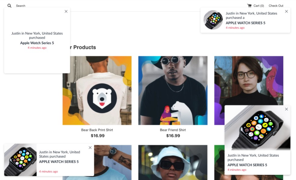 Proof Bear free Shopify app