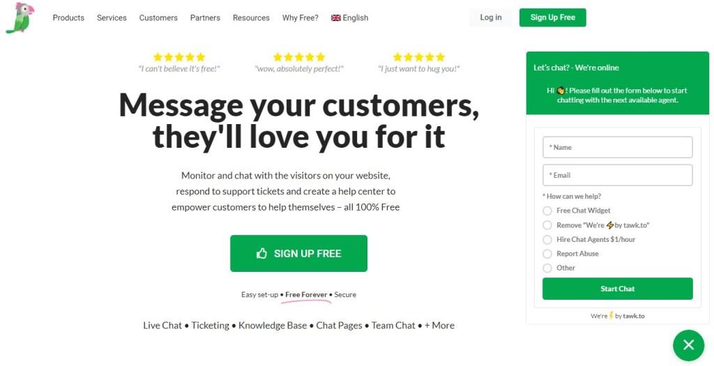 Tawk.to free Shopify app