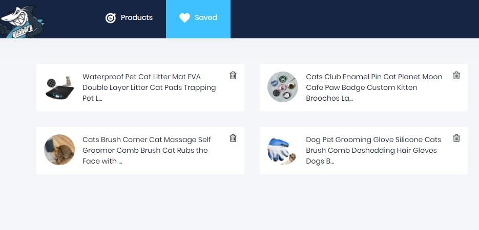 AliShark save for later browsing