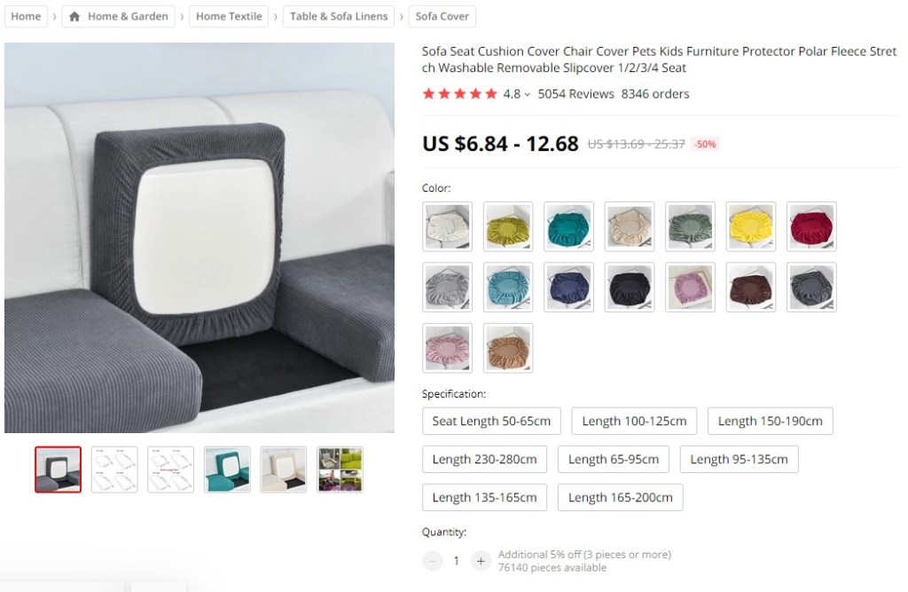 WonderCover dropshipping product on AliExpress