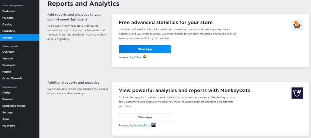 Ecwid reports and analytics