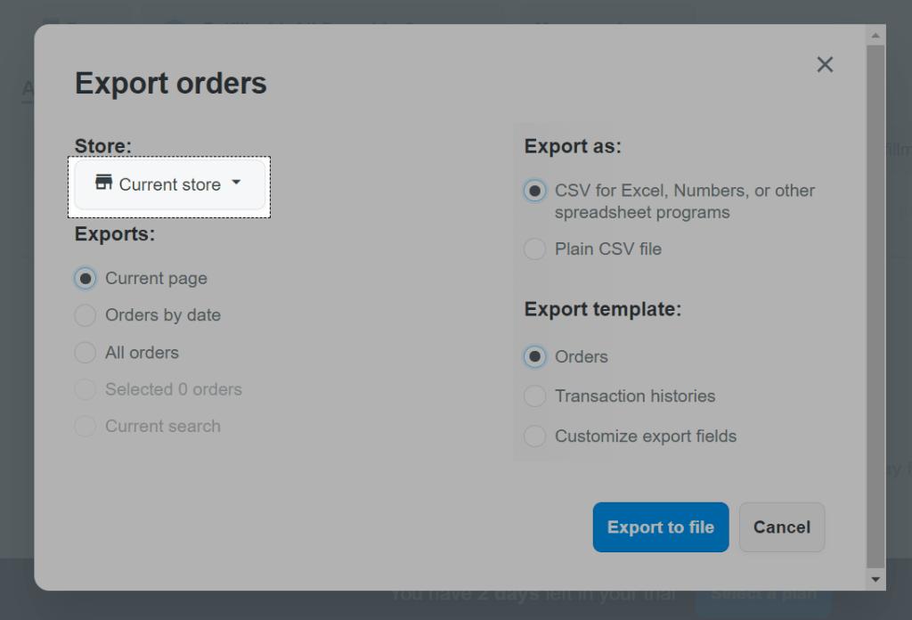 ShopBase multiple store management