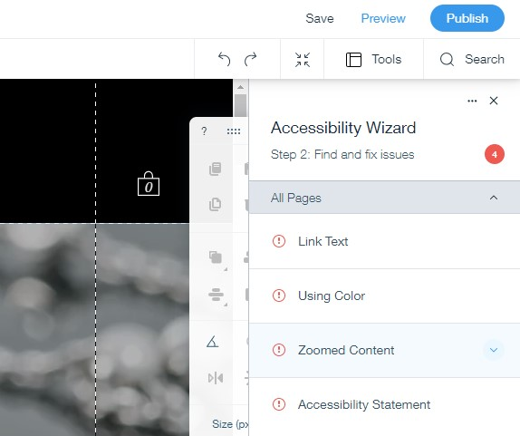 Wix Accessibility Wizard