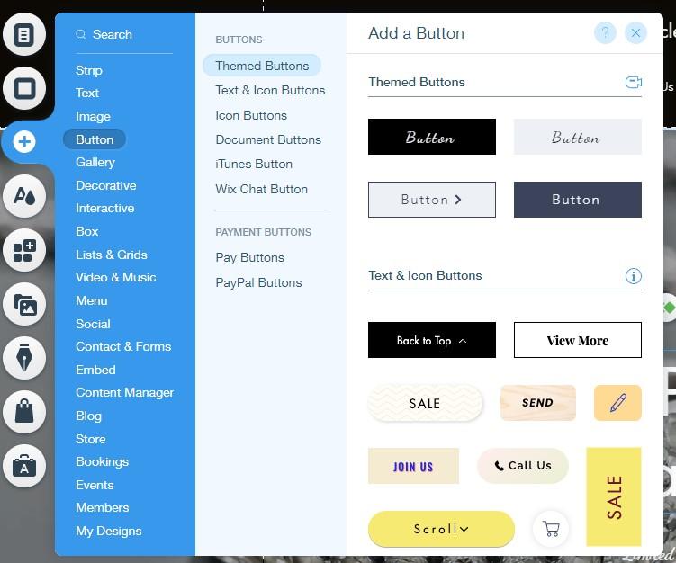Wix editor design elements