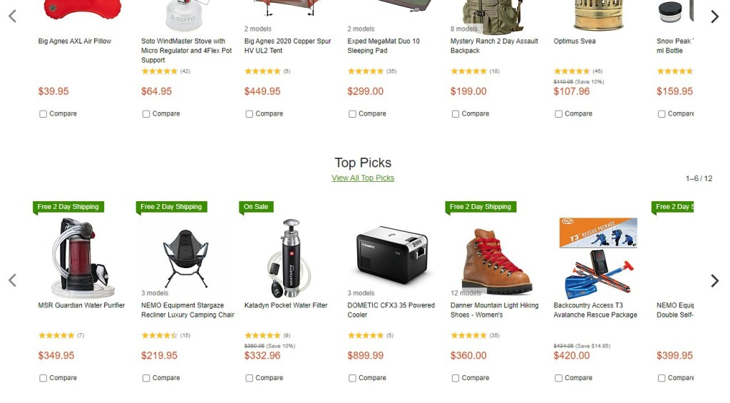 Camp Saver high-ticket dropshipping store