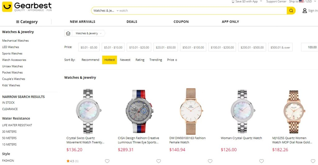 Gearbest for high-ticket dropshipping