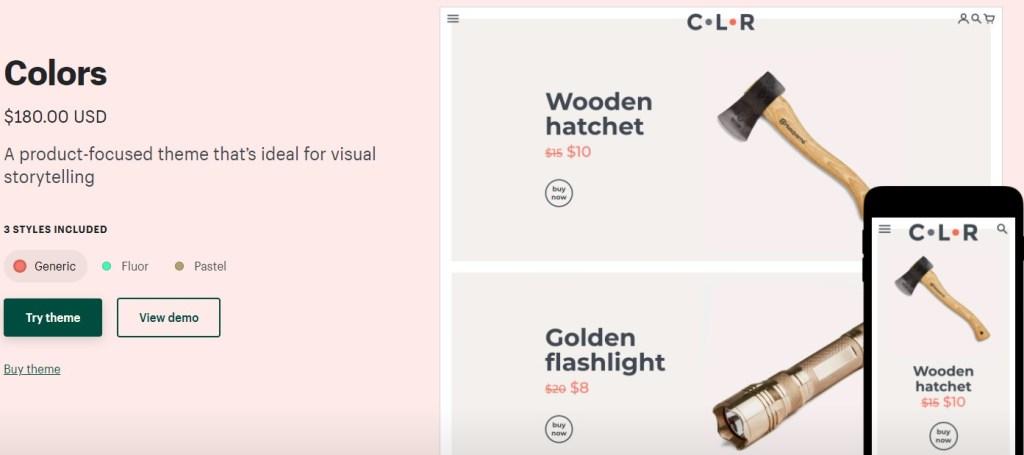 Shopify Colors theme