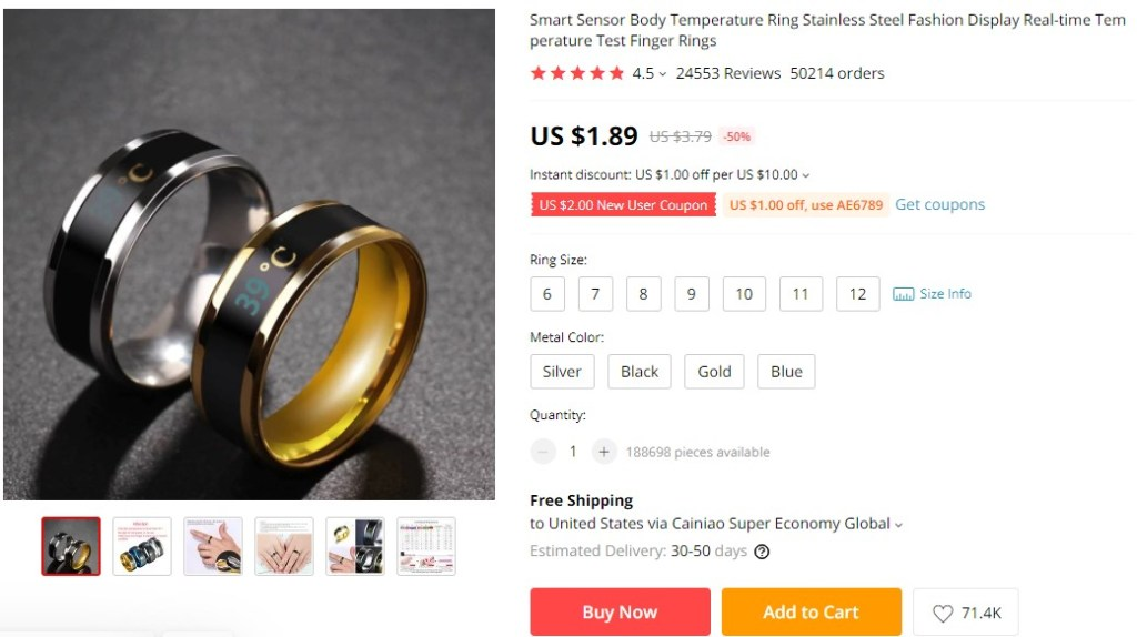 Smart ring dropshipping product