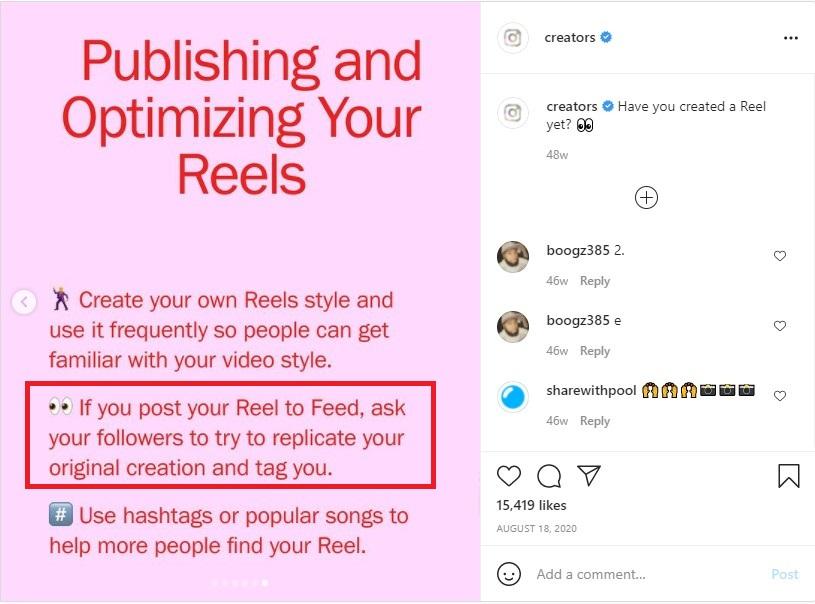 Instagram talks about replicating Reels