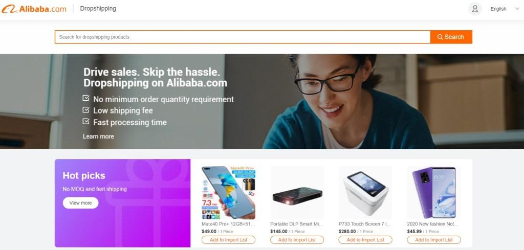 Alibaba dropshipping product catalog