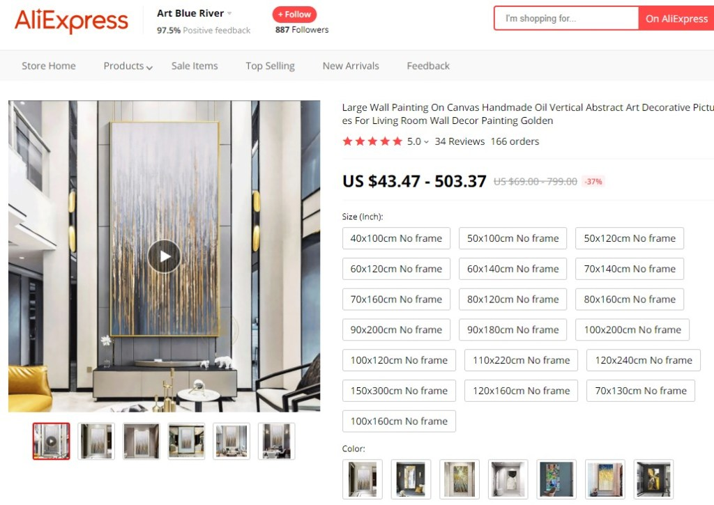 Large wall painting high-ticket dropshipping product