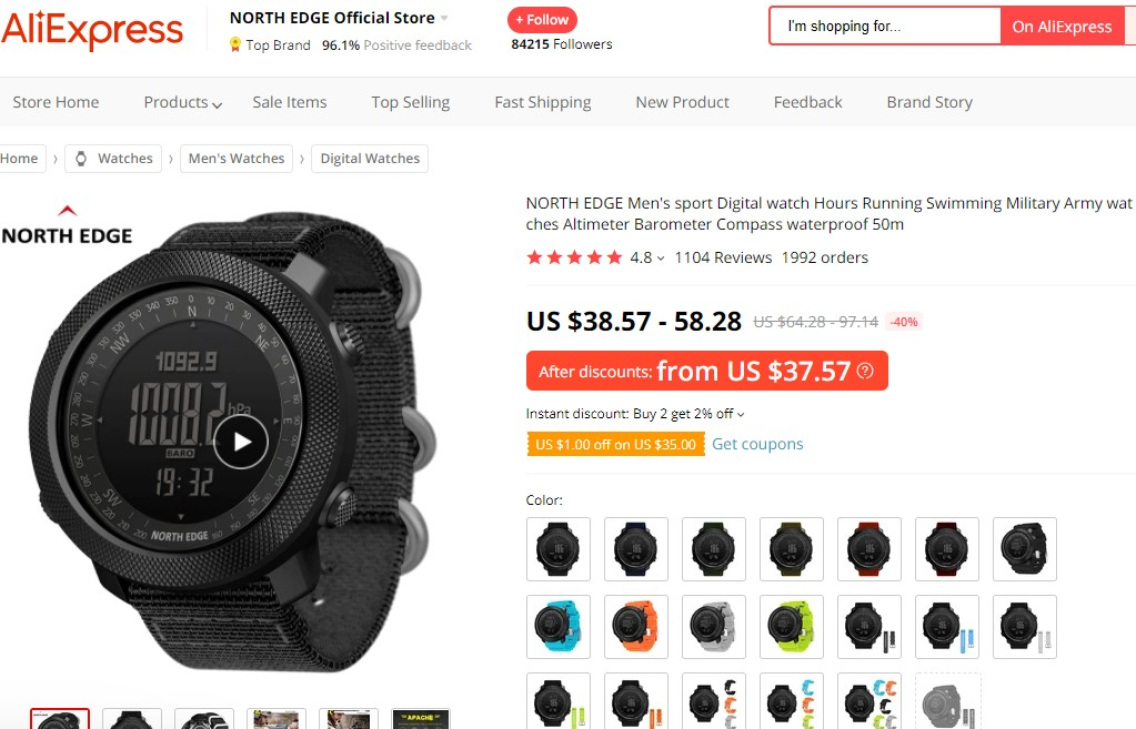 ABC watch dropshipping product example